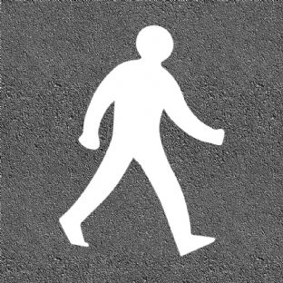 Thermoplastic Walking Man Symbol